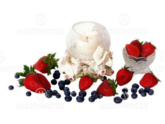 Frukt med stearinljus