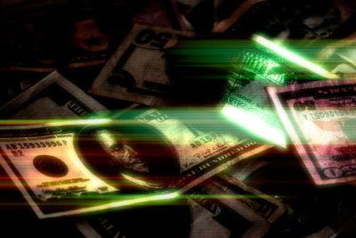 Glowing Money Background