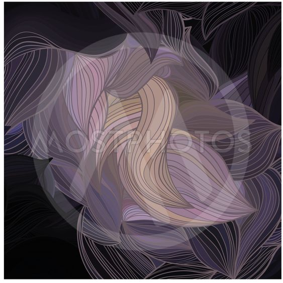 Vector abstract hand-drawn wave pattern