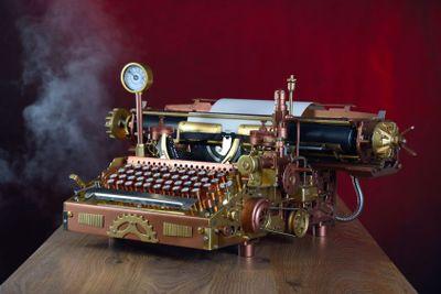 Steampunk Typewriter.
