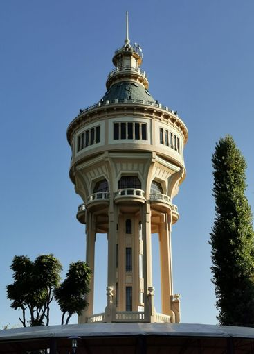 Old water tower on Margaret Island in Budapest