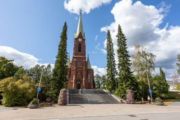 Mikkeli Cathedral in summer day