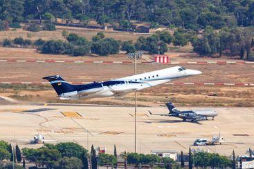Air Hamburg Embraer Legacy 650 airplane Palma de...