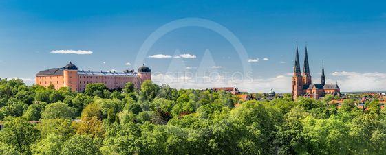 Uppsala domkyrka och slottet