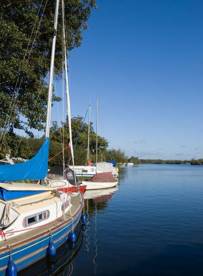 Moored Sailing Yachts