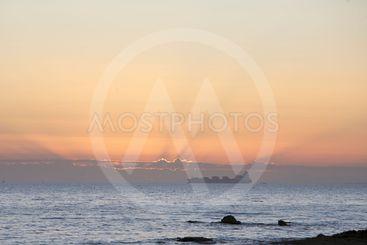 Cargo Ship, sea route