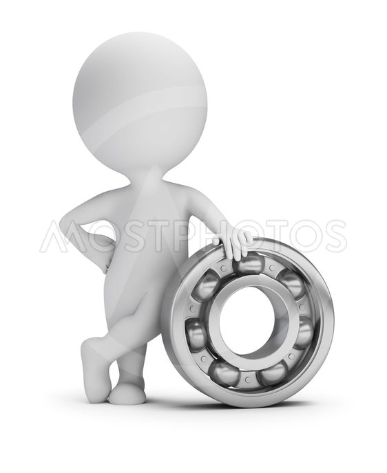 3d small people - ball bearing