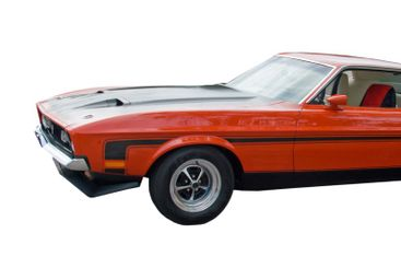 Red American Muscle Car