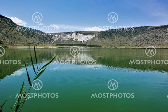The emerald volcanic lake Nar