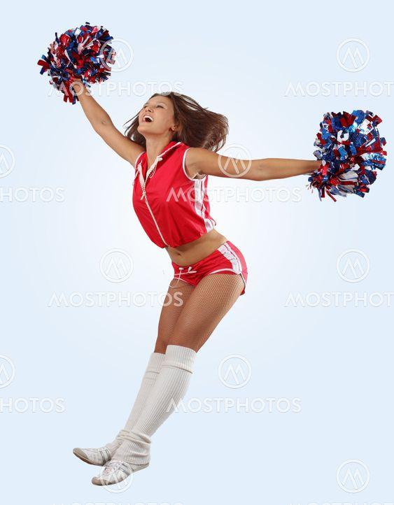 cheerleader pige springe