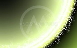 Fluorescent abstract corner background