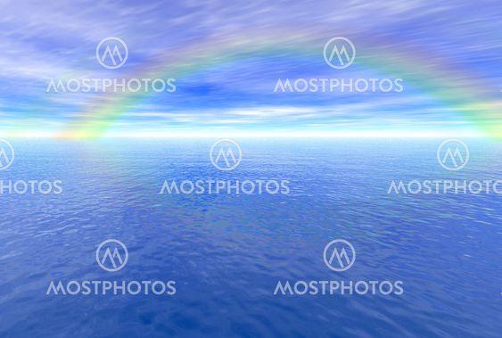 Rainbow over havet