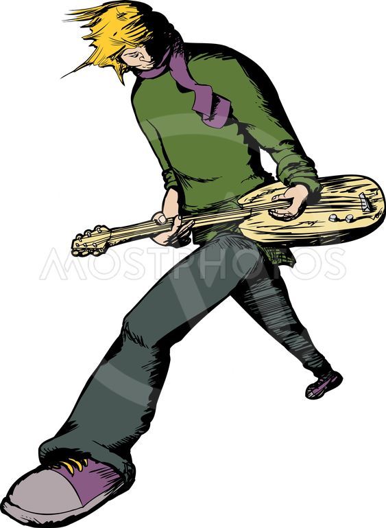 Blond Guitarist Performing