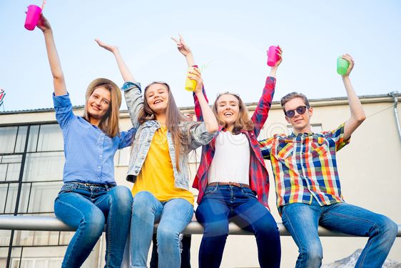 Teens having a party