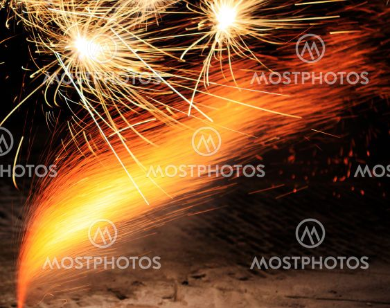 Fireworks in close up