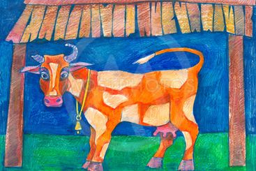 domestic animals. dairy cow