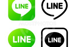 Line sign, green chat symbol. Web icon comments color....