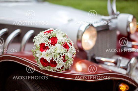 Wedding retro car