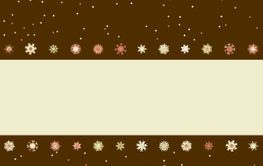 Christmas greeting card with snowflakes. EPS 8