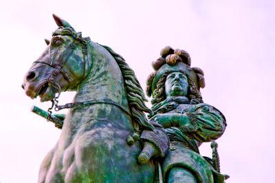 france,ile de france,78 : versailles,statue du roi louis 14