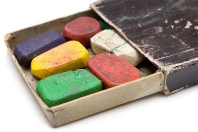Grungy Box of Wax Crayons