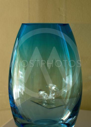 Blue Glass Vase.