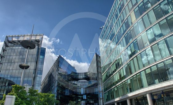 Canary Wharf is a large business and shopping development...