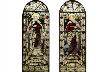 Stain Glass Windows on a white background