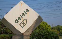 Rusty delete button