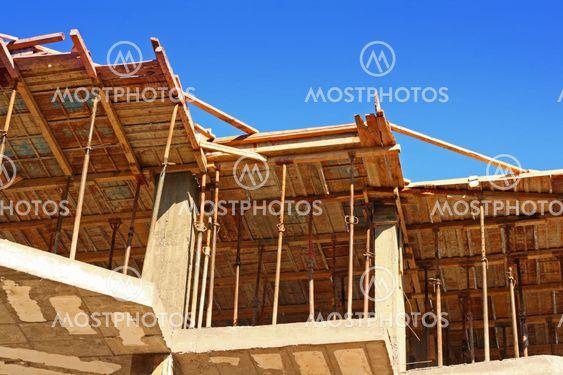 Konkrete Forskallinger på en byggeplads