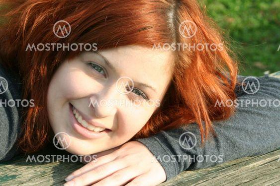 Cheerful Outdoor Teen