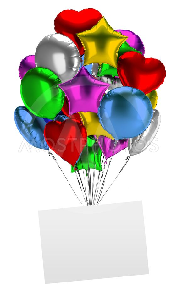 bunch of balloons with an empty board