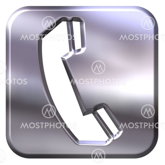 3D Silver Telephone Sign