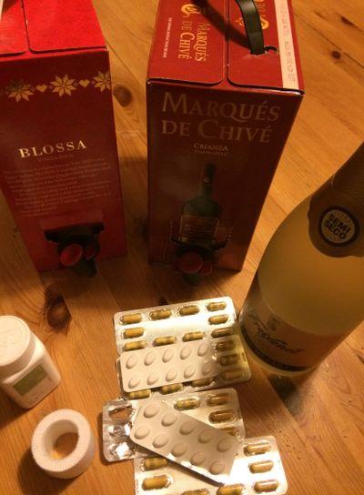 alkohol och tabletter