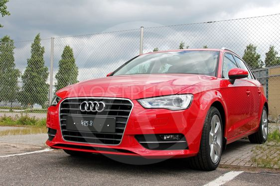 Red Audi A3
