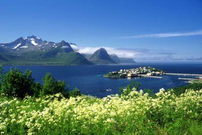 Beautiful island in north Norway