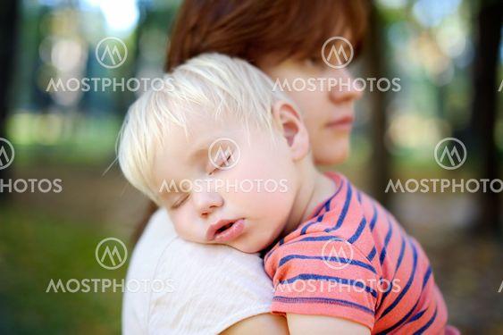 Sleeping toddler boy