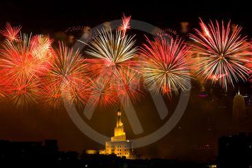 Beautiful firework display