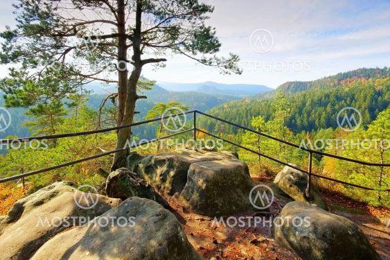 viewpoint Kleinsteinaussicht in Elbe Sandstone Mountains