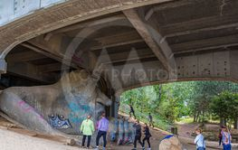 Tourists at Fremont Troll