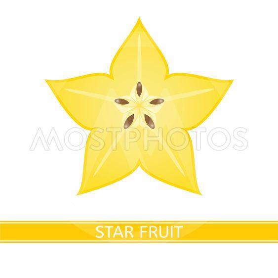 Starfruit isolated on white