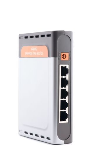 ethernet switch on white