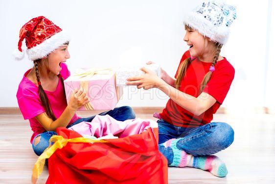 Happy girl on christmas