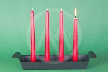 First of Advent with red candles