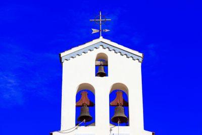 canary islands, la palma : Punta Gorda, church, tower...