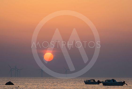 Sunset over Oresund