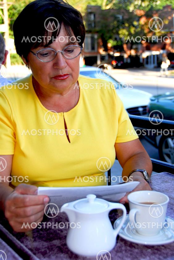 Mature woman reading