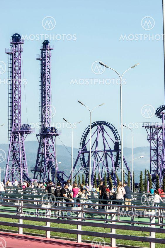 Sochi Park.Pedestrian bridge.