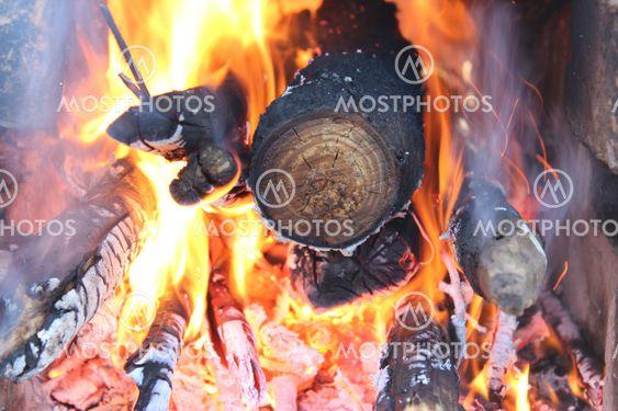 fire,fire, wood, sparks, smoke