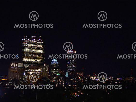 Boston Skyline in the Evening